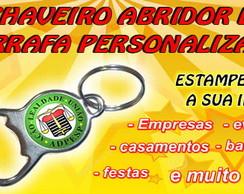 CHAVEIRO ABRIDOR DE GARRAFA PERSONALIZA
