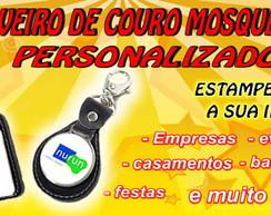 CHAVEIRO DE COURO COM MOSQUET�O