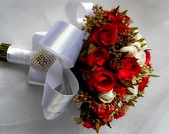 Buque - Mini Rosas Vermelhas e Brancas