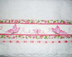 Toalha para Lembrancinha Borboletas rosa