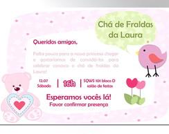 Ch� de Fraldas - Convite Digital
