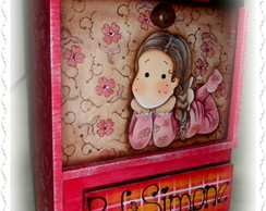 Porta apagador - Little girl