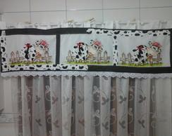 Bando para cortina vaquinha charmosa