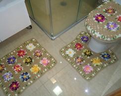 Jogo de banheiro - Flores Bnh 084