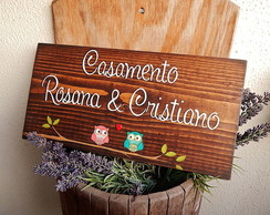 Placa Customiz�vel Rosana