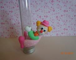 lembran�a em biscuit palha�o rosa tubete