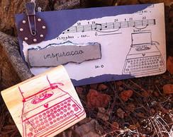 Carimbo m�quina de escrever