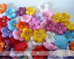 Florzinha - Aplique em biscuit