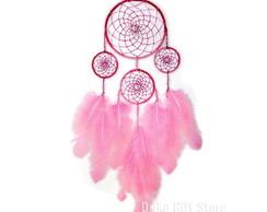 Filtro dos Sonhos Rosa Grande