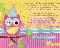 Convite Festa do Pijama Coruja
