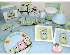 Decora��o completa 23 p�s - Coruja Th�o