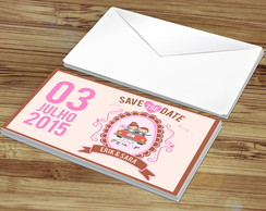 Convite Save the Date + Envelope