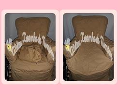 capa para poltrona amamenta��o+almofada