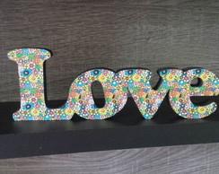 Love Estampa Floral- Pequeno