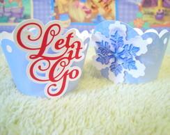 Wrapper (Saia) para Cupcake - Frozen