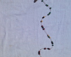 fio de sementes com estrela mini