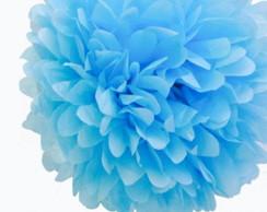 Pompom Seda - Azul Claro { 35cm }