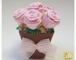Lembrancinha Mini rosas no vasinho