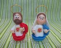 Sagrado cora��o de Maria e Jesus Fofuxos