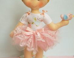 Boneca menina jardim encantado
