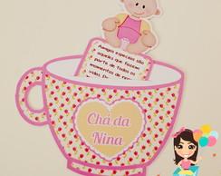 Convite xicar� ch� de beb�