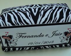 10 necessaire zebrinha personalizada