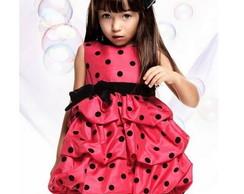 Vestido Festa Infantil Princesa Minie