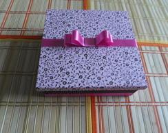 Caixa Presente Rosa e Marrom