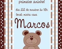 Convite Urso Azul e Marrom - arte