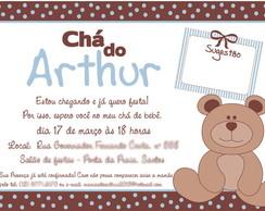 Arte de Convite - Ch� Ursinho