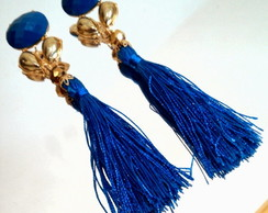 Brinco Tassel Azul Bic (Royal)