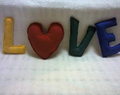 Palavra em Love em feltro