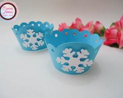 Wrapper 3D para Cupcake Tema Frozen