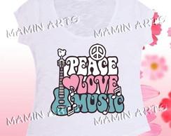 T shirt, baby look, bata Paz e Amor 4
