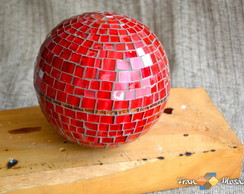 Bola -Esfera Decorativa em Mosaico Tam G