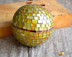 Bola -Esfera Decorativa em Mosaico Tam P