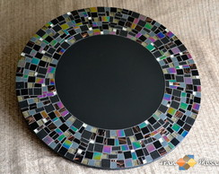 Prato Girat�rio em Mosaico -P�rola Negra