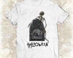 Camiseta halloween cogumelo