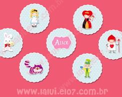 Alice in Wonderland - Apliques em Scrap