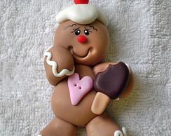 Im� ou Aplique Biscoito Natal com picol�