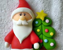 Im� ou Aplique Papai Noel com �rvore