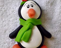 Im� ou Aplique Pinguim com Cachecol
