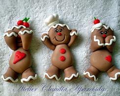 Im� ou Aplique Trio Biscoito Natal