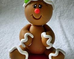 Enfeite Biscoito de Natal com base