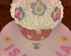 Cupcake Gigante - Corujas