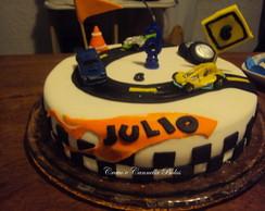 bolo decorado carros