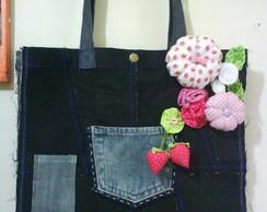 Bag Jeans com Aplica��o