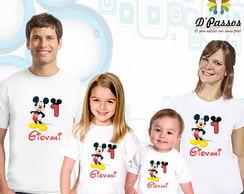 Kit 4 camisetas- Mickey 01