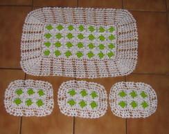 Jogo de toalhas de croch�
