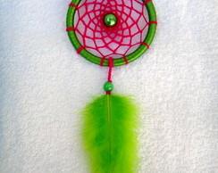 Filtro dos Sonhos p/ Carro Verde e Rosa